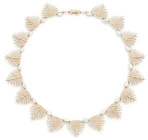 Adriana Orsini Barbara Pavé Crystal Leaf Necklace