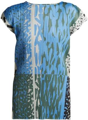 Pleats Please Issey Miyake Flash printed pleated top