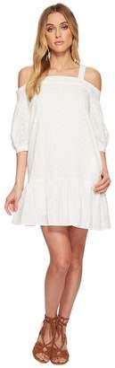 J.o.a. Eyelet Drop Waist Cold Shoulder Dress Women's Dress