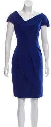 Lela Rose Pleated Mini Dress