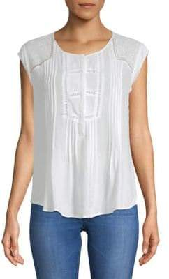 Daniel Rainn Cap-Sleeve Top