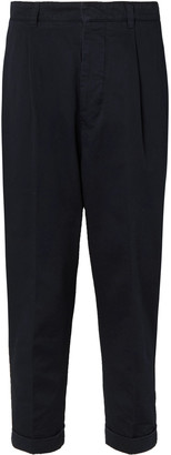 Ami Pleated Cotton-Twill Chinos - Men - Blue