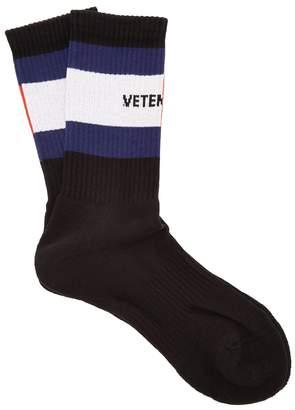 Vetements X Tommy Hilfiger cotton-blend socks