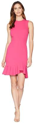 Donna Morgan Sleeveless Crepe Dress with Exposed Back Zip Women's Dress