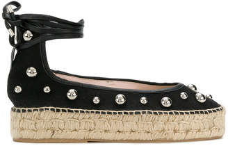 Premiata studded chunky sole lace up espadrilles