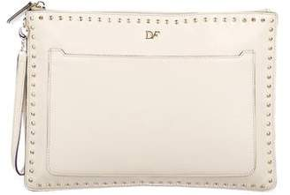Diane von Furstenberg Studded Zip And Go Clutch
