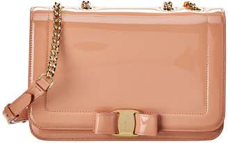 Salvatore Ferragamo Vera Rainbow Patent Shoulder Bag
