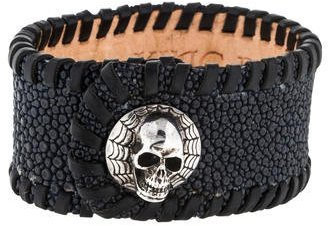 King Baby Studio Sting Ray Skull Cuff $495 thestylecure.com