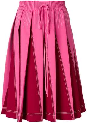 Valentino VLTN Technical pleated A-line skirt