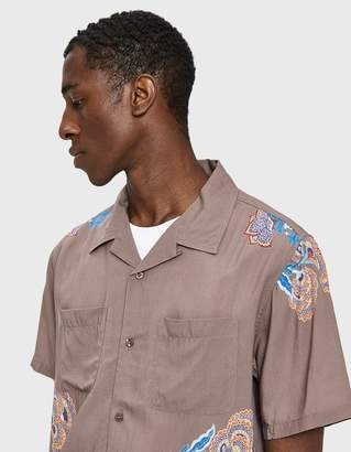 Stussy Hana Printed Shirt in Brown
