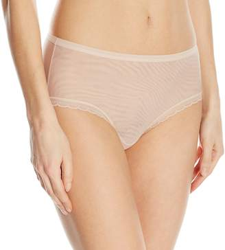 OnGossamer Women's Next to Nothing Mesh Medium-Rise Modern Brief Panty