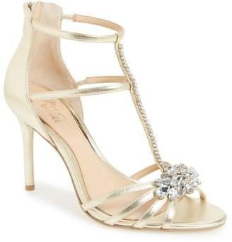 Badgley Mischka Hazel Embellished T-Strap Sandal (Women)