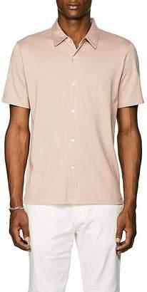 Theory Men's Silk-Cotton Short-Sleeve Shirt