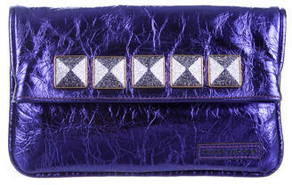 Marc Jacobs Marc Jacobs Studded Metallic Leather Clutch