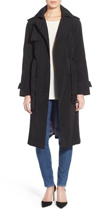 Petite Women's London Fog Double Breasted Trench Coat $178 thestylecure.com