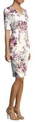 Escada Dnila Floral-Print Dress