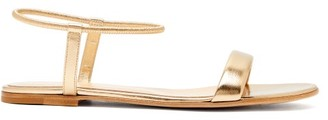 Gianvito Rossi Nikki Metallic Leather Sandals - Womens - Gold