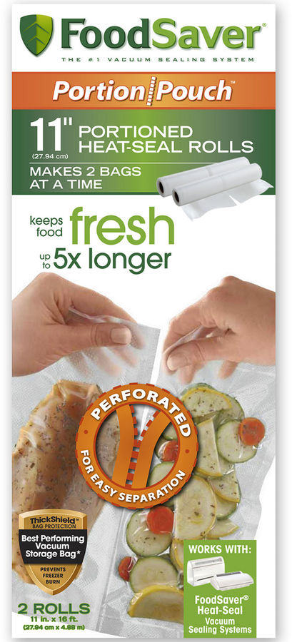 FoodSaver 2-Pack 11x16' Portion Pouch Rolls