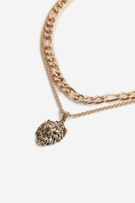 Topshop Lion Pendant Necklace