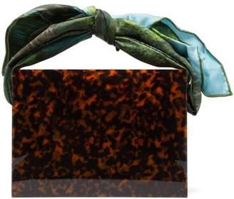 Montunas Guaria Tortoiseshell Acetate Box Bag - Womens - Brown Multi