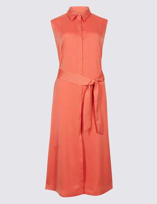 M&S Collection Spilt Hem Shirt Midi Dress