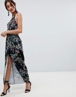 Style Stalker Stylestalker Avalon Floral Print Wrap Maxi Dress