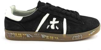 Premiata Andy Sneaker In Blue Suede Upper