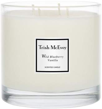 Trish McEvoy Limited Edition Luxury Wild Blueberry and Vanilla Four-Wick Candle 740g