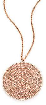 Astley Clarke Women's Icon Light Grey Diamond& 14K Rose Gold Aura Long Large Pendant Necklace