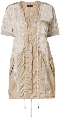 Diesel Black Gold mesh and parachute mini dress