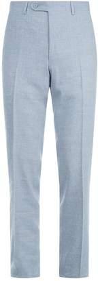 Canali Linen-Wool Mélange Trousers