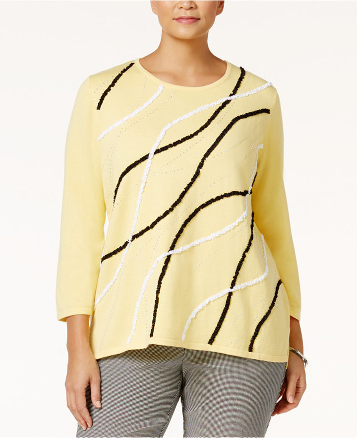 Alfred Dunner Alfred Dunner Plus Size City Life Collection Sunburst Sweater