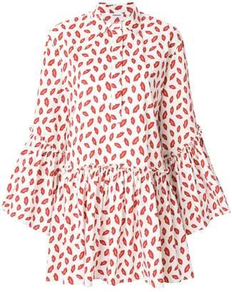 P.A.R.O.S.H. lips print shirt dress