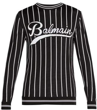 Balmain Baseball Knitted Sweatshirt - Mens - Black