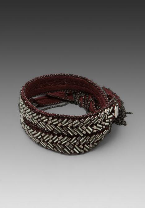 CHAN LUU Silk Chiffon Bracelet with Glass Beads