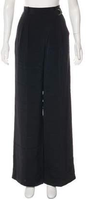 Alexander Wang Silk High-Rise Wide-Leg Pants w/ Tags