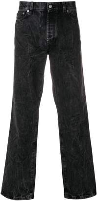Givenchy wrinkled effect jeans