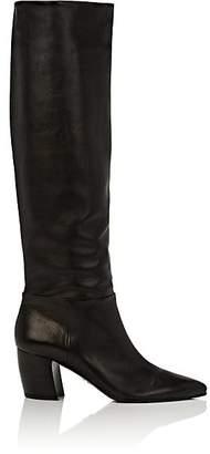 Prada Women's Black Leather Knee Boots - Nero