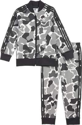 adidas Camo Track Jacket & Jogger Pants Set