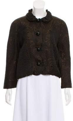 Lanvin Jacquard Button-Up Jacket