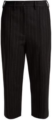 MM6 MAISON MARGIELA Straight-leg wool-blend cropped trousers