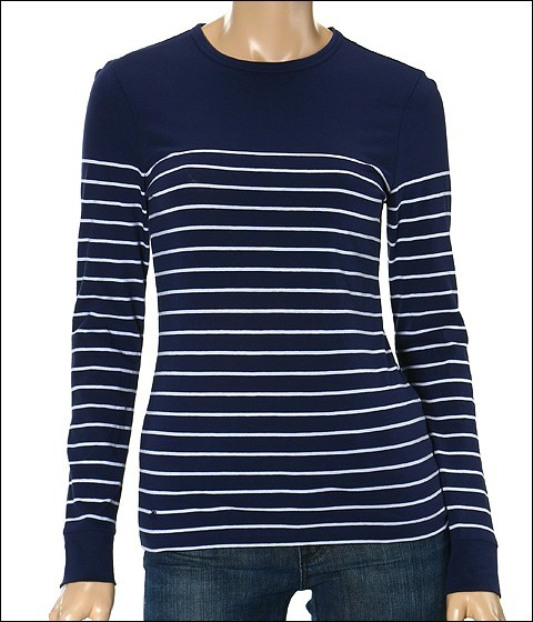 Lilly Pulitzer - Christina Stripe Long Sleeve (True Navy Marseilles Stripe)