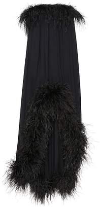 Saint Laurent Feather-trimmed dress