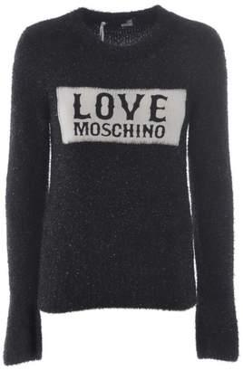 Love Moschino Glitter Logo Jumper