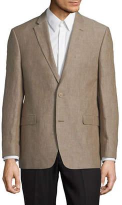 Tommy Hilfiger Textured Long-Sleeve Linen Blazer