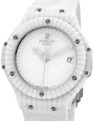 "Hublot Big Bang Caviar"" Large White Ceramic & Titanium Strapwatch Womens Watch"