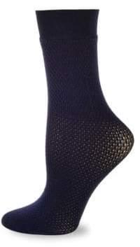 Wolford Rhomb Netted Crew Socks