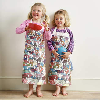 Mary Kilvert Flock Of Colourful Sheep Children's Apron