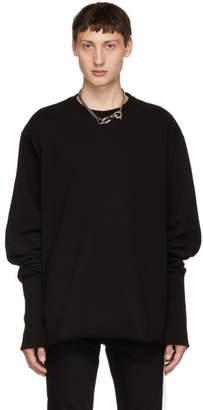 Christian Dada SSENSE Exclusive Black Overdying Bomber Sweatshirt