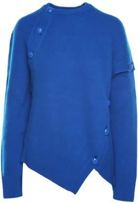Cédric Charlier Button-embellishment Cashmere And Wool-blend Jumper